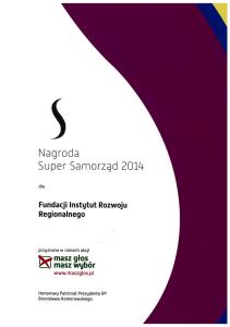 Dyplom Super Samorząd 2014